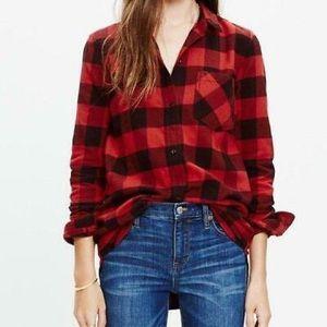MADEWELL Ex Boyfriend' Buffalo Check Shirt